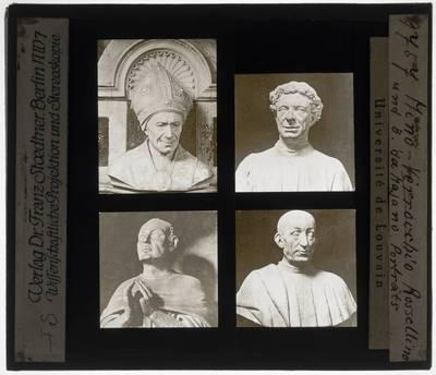 Vier bustes van mannen