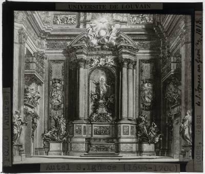 Andrea Pozzo. Altaar van Sint Ignatius :Tekening