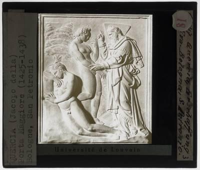 Jacopo della Quercia. Porta Magna :Detail: Creatie van Eva