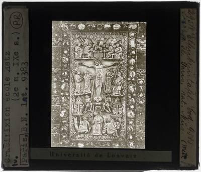 Evangelia quattuor :Boekband met afbeelding van de Kruisiging