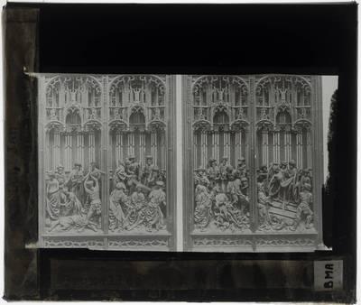 Jan Borman de Jonge. Retabel van de Heilige Joris :Detail: Zijluiken