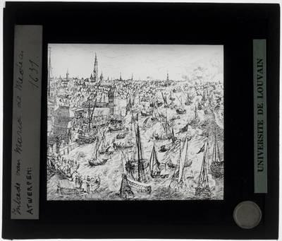 Antwerpen. Prent Intrede van Maria de Medici in 1631