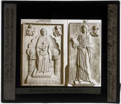 Twee reliëfbeelden