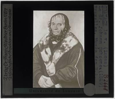 Lucas Cranach der Ältere. Postuum portret van Johann Schöner