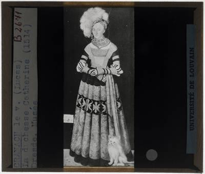 Lucas Cranach der Ältere. Hertogin Katharina van Mecklenburg