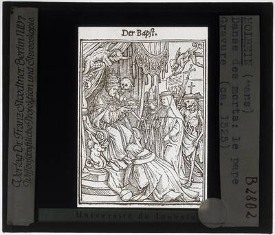 Hans Holbein II. Dodendans :De Paus