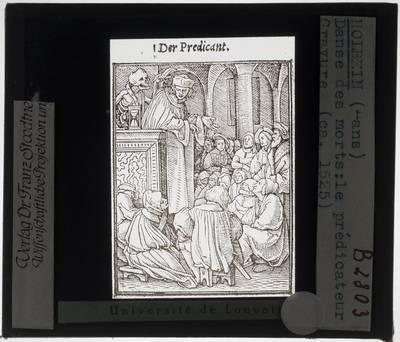 Hans Holbein II. Dodendans :De Predikant