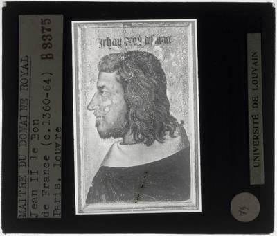 Anoniem. Portret van Jan II van Frankrijk