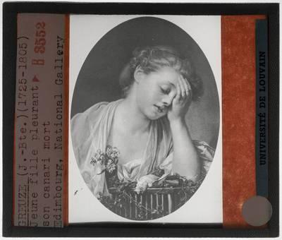 Jean-Baptiste Greuze. Meisje met een dode kanarie