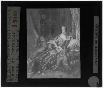 François Boucher. Portret van Madame de Pompadour