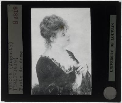 Auguste Renoir. Jonge vrouw met zwarte corsage