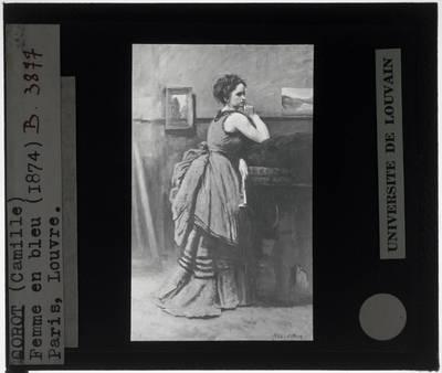 Jean-Baptiste-Camille Corot. De vrouw in het blauw