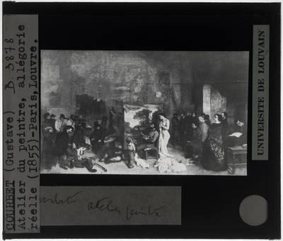 Gustave Courbet. Het atelier van de schilder