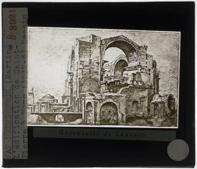 Maarten Van Heemskerk. Bouw van de Sint-Pietersbasiliek in Rome