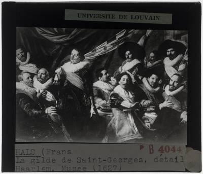Frans Hals. Feestmaal van de officieren van de St. Jorisschutterij :Detail
