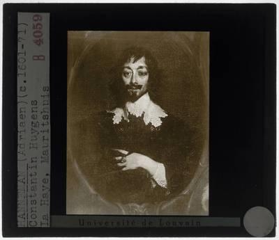Adriaen Hanneman. Portret van Constantijn Huygens en zijn vijf kinderen :Detail: Portret van Constantijn Huygens