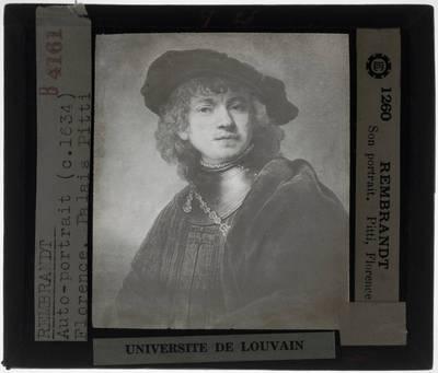 Rembrandt (toegeschreven). Tronie van een jongeman met halsberg en baret