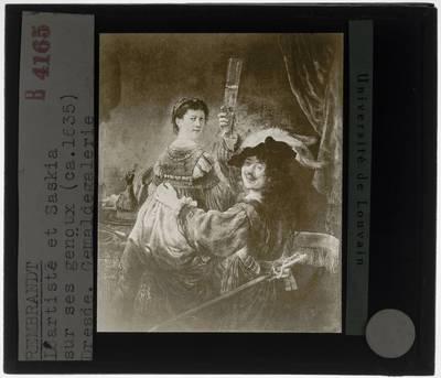 Rembrandt. Zelfportret als verloren zoon in de herberg