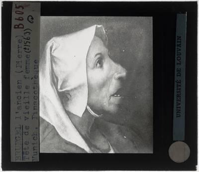 Pieter Brueghel de Oude. Portret van een oude vrouw