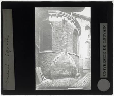 Tournai. Eglise Saint-Quentin :Exterieur: Zicht op een zijkapel