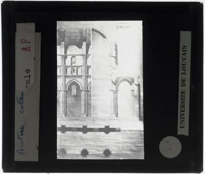 Autun. Cathédrale Saint-Lazare :Doorsnedes en grondplan