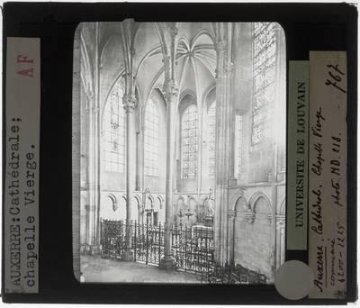 Auxerre. Cathédrale Saint-Étienne :Interieur: Chapelle de la Vièrge