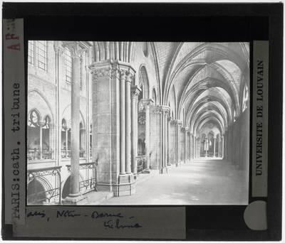 Paris. Cathédrale Notre-Dame :Interieur: Tribune