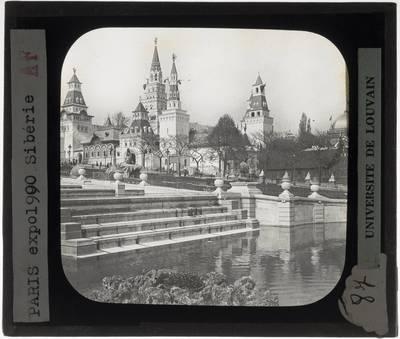 Paris. Russisch paviljoen van de wereldtentoonstelling in 1900 :Exterieur
