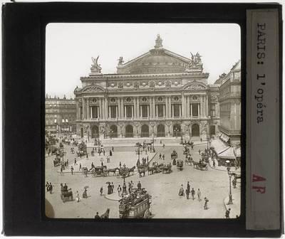 Paris. Opéra Garnier :Exterieur: Voorgevel