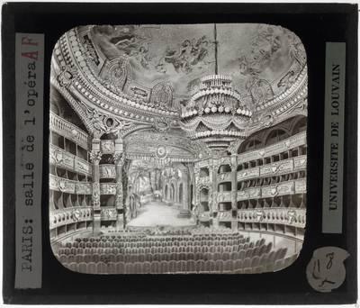 Paris. Opéra Garnier :Interieur: Theaterzaal