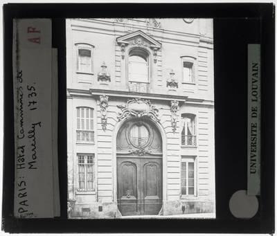 Paris. Hôtel de Dreux-Brézé :Exterieur
