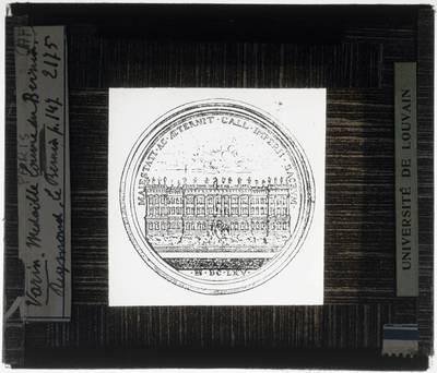 Herdenkingsmedaille van het ontwerp van de oostelijke gevel van het Louvre door Bernini
