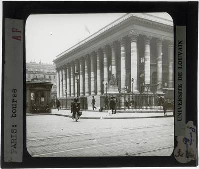 Paris. La Bourse de Paris