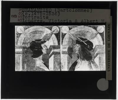 Twee portretten van mannen in profiel