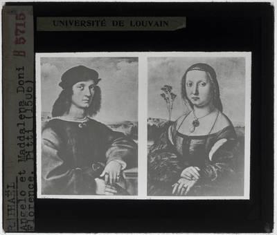 Raphael. Portret van Agnolo Doni. Portret van Maddalena Strozzi