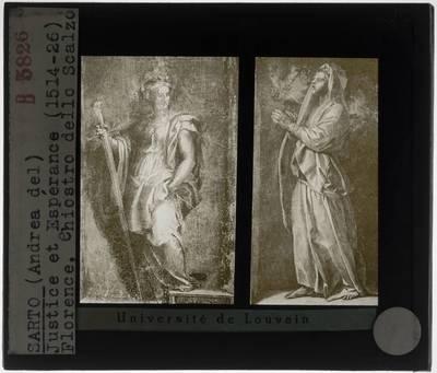 Andrea del Sarto. Allegorie van de gerechtigheid en van de hoop