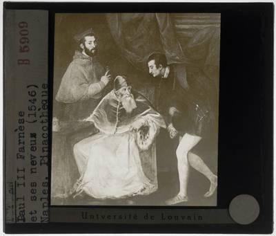 Titiaan. Paus Paulus III en zijn neven Alessandro en Ottavio Farnese