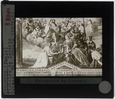 Paolo Veronese. Sala del Collegio in Palazzo Ducale :Votief portret van doge Sebastiano Venier
