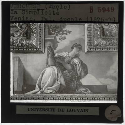 Paolo Veronese. Sala del Collegio in Palazzo Ducale :Plafonddecoratie: Deugd
