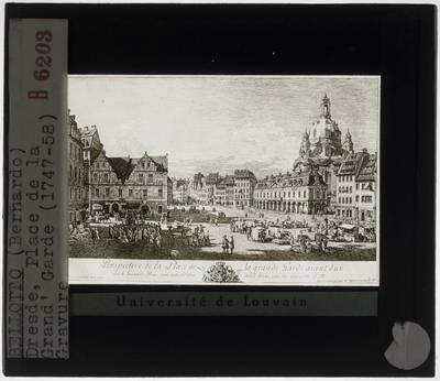 Bernardo Bellotto. Zicht op de Neumarkt van Dresden