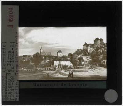Bernardo Bellotto. Pirna: De Obertor vanuit het zuiden