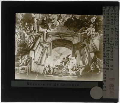 Andrea Pozzo. De Triomf van Ignatius van Loyola :Detail