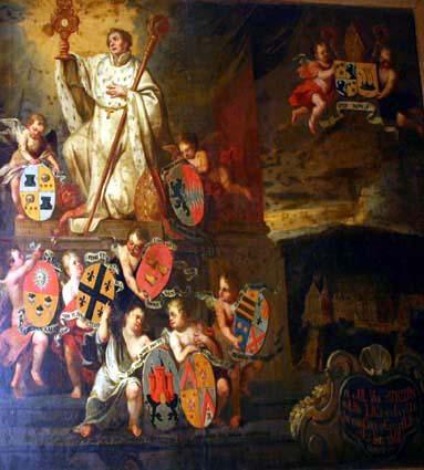 Allegorie: De verheerlijking van de licentiaten in de Theologie van de Parkabdij