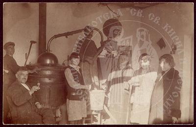Cauldron for distillation of brandy