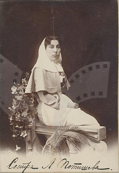 Lukretsiya Petisheva in the uniform of the nursing school