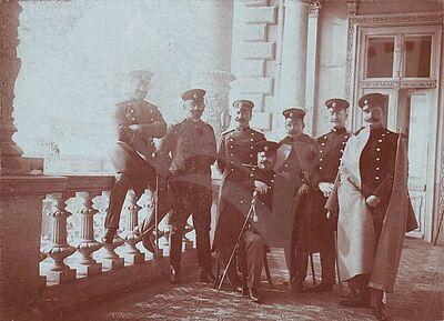 Lieutenant general Stefan Paprikov and other officers