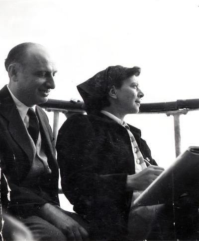 Vas István és Szántó Piroska hajókiránduláson