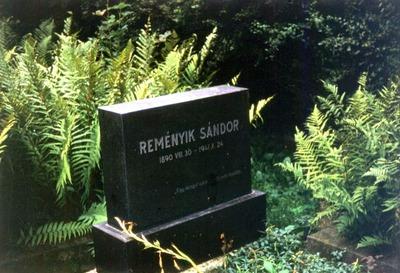 Reményik Sándor sírja a Házsongárdi temetőben