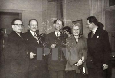 Murányi Kovács Endre, Pór Bertalan, Gereblyés László, Veres Ila, Léon Moussinac