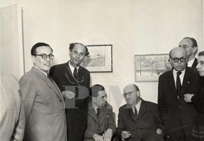Murányi Kovács Endre, Gereblyés László, Léon Moussinac, Zolnai Béla, Aranyossi Pál, Pór Bertalan és felesége